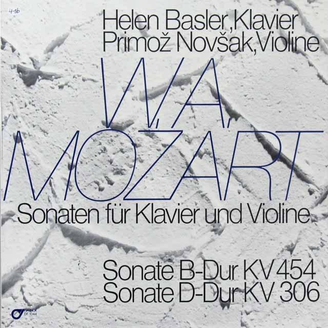 バスラー&ノヴシャクのモーツァルト/ヴァイオリンソナタ第30&40番 スイスDARNOK 3223 LP レコード