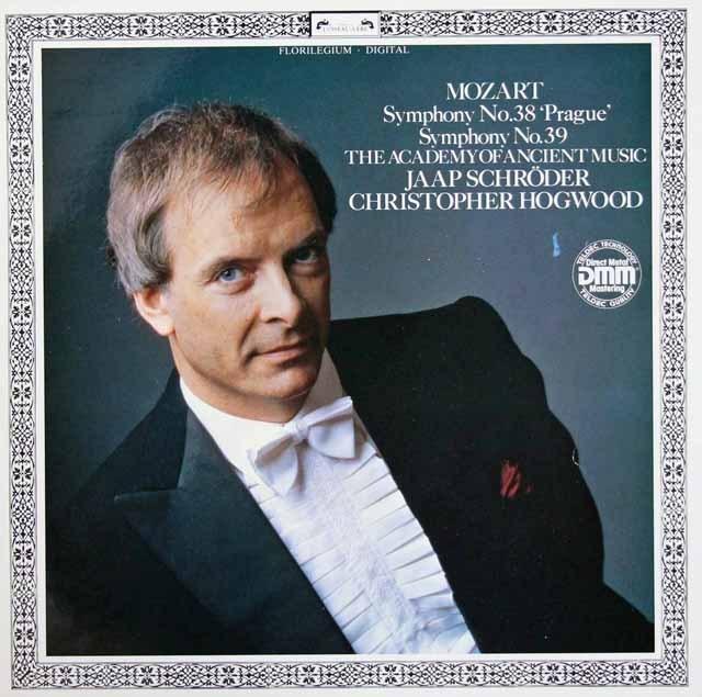 ホグウッドのモーツァルト/交響曲第38番「プラハ」&第39番  独DECCA  2844 LP レコード