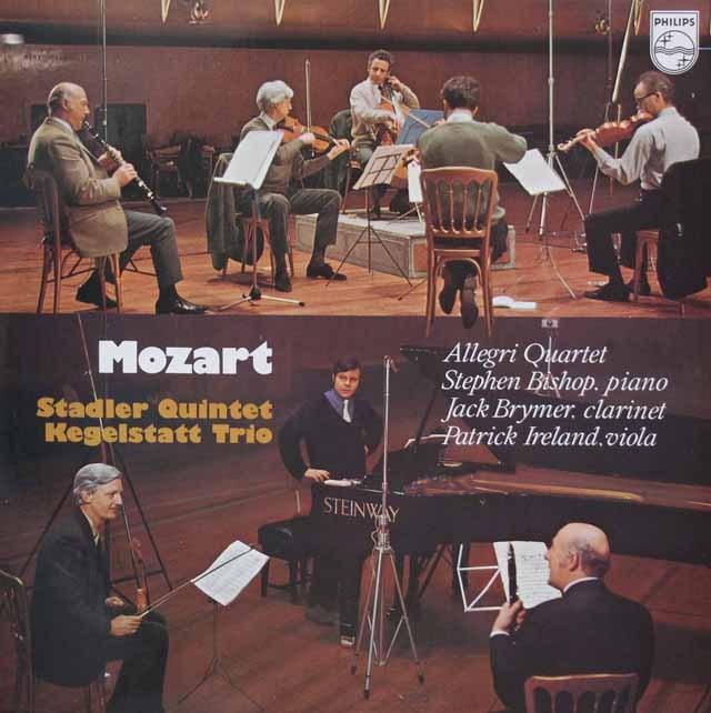アレグリ弦楽四重奏団のモーツァルト/室内楽曲集 蘭PHILIPS 3294 LP レコード