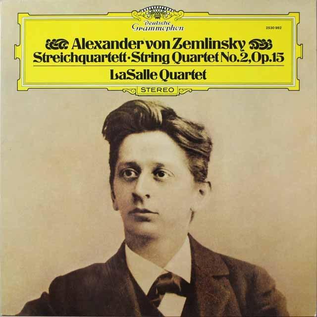 ラサール四重奏団のツェムリンスキー/弦楽四重奏曲第2番  独DGG  2642 LP レコード