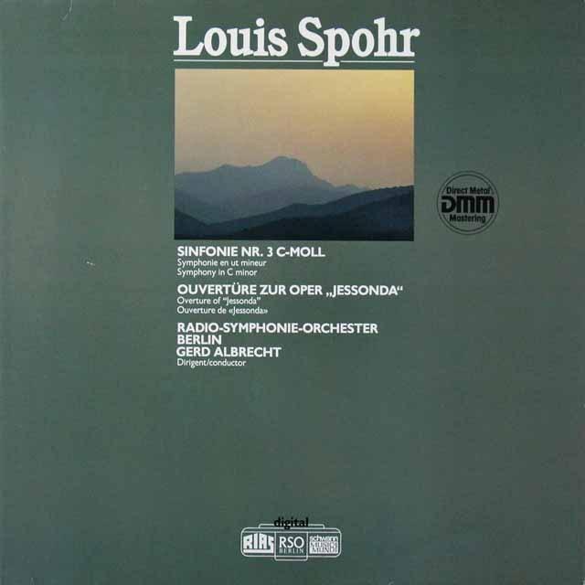 アルブレヒトのシュポーア/交響曲第3番ほか 独schwann 3223 LP レコード
