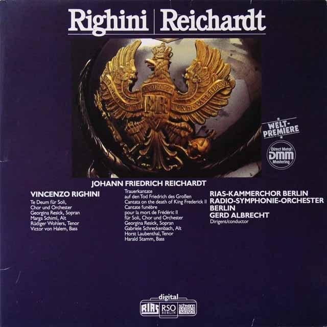 アルブレヒトのリギーニ&ライヒャルト/作品集 独schwann 3223 LP レコード