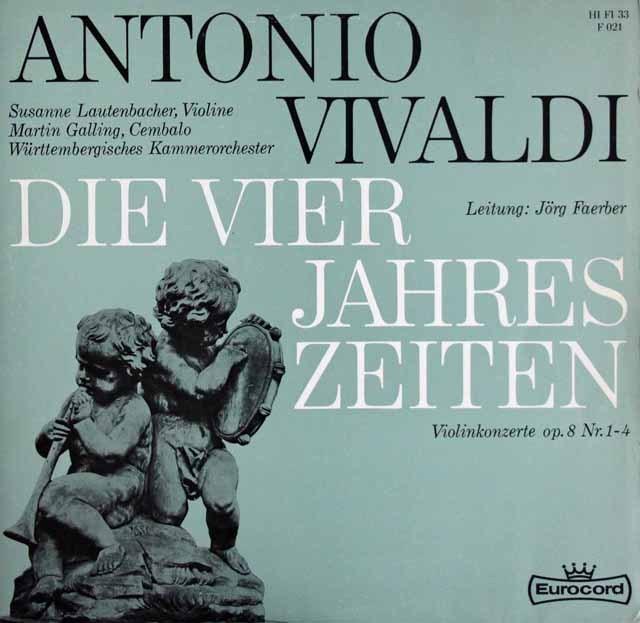 ラウテンバッハー&フェルバーらのヴィヴァルディ/「四季」 独Eurocord 2844 LP レコード