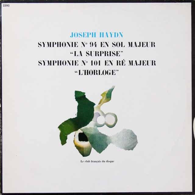 リステンパルトのハイドン/交響曲第94番「驚愕」&第101番「時計」 仏le club francais   2714 LP レコード