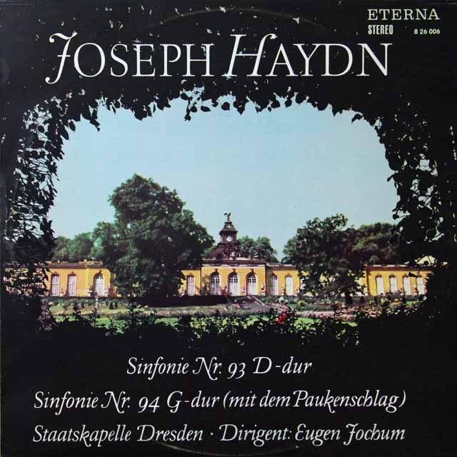 【テストプレス】 ヨッフムのハイドン/交響曲第93&94番「驚愕」 独ETERNA 3223 LP レコード
