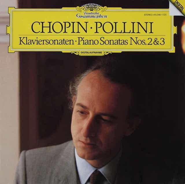 ポリーニのショパン/ピアノソナタ第2番「葬送行進曲付き」&第3番 独DGG 3029 LP レコード