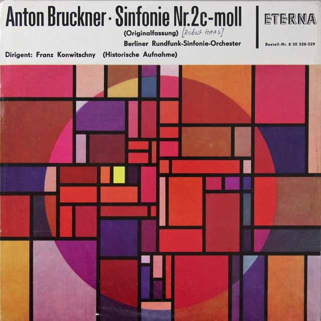 【テストプレス】 コンヴィチュニーのブルックナー/交響曲第2番 独ETERNA 3223 LP レコード