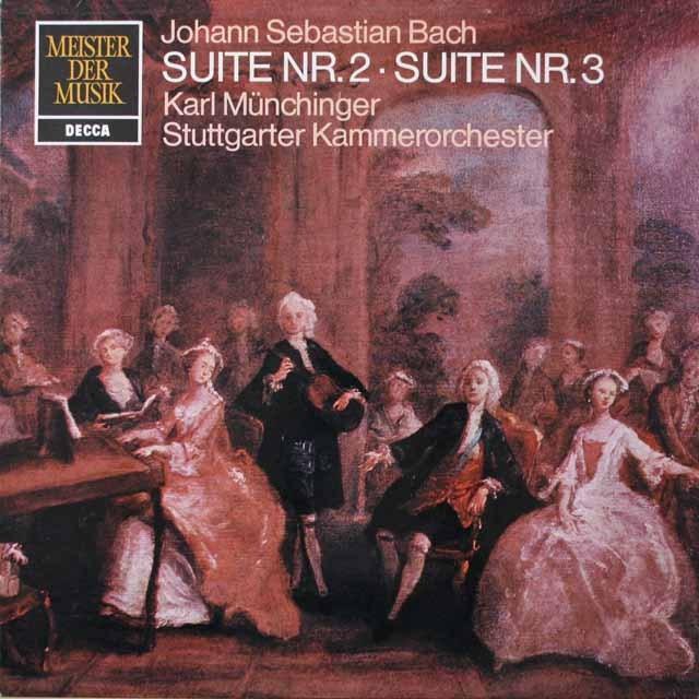 ミュンヒンガーのバッハ/管弦楽組曲第2&3番 独DECCA  2644 LP レコード