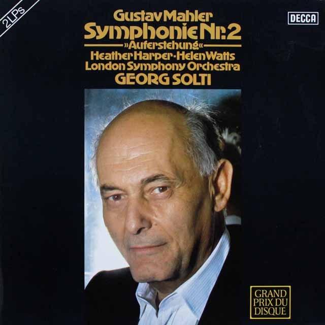 ショルティのマーラー/交響曲第2番「復活」 独DECCA 3231  LP レコード