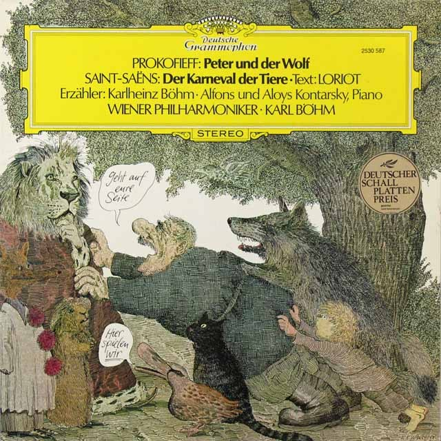 ベームのプロコフィエフ/「ピーターと狼」(ドイツ語版)ほか 独DGG 3291 LP レコード