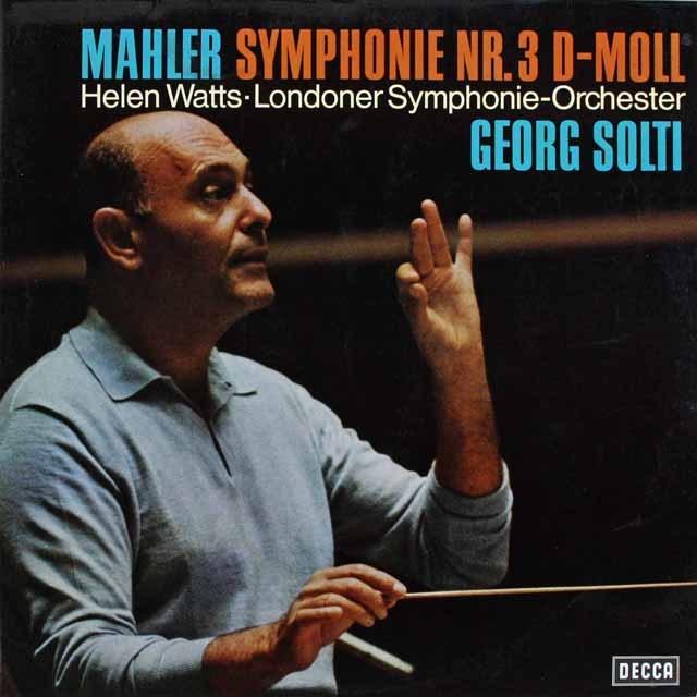 ショルティのマーラー/交響曲第3番 独DECCA 3231 LP レコード