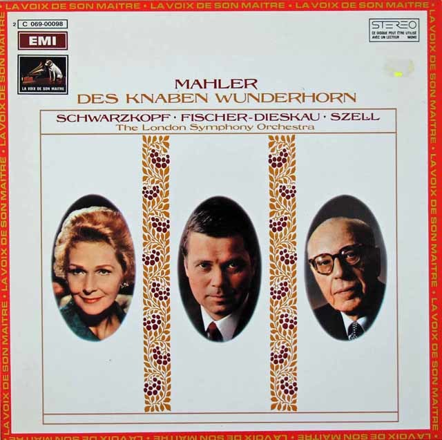 セルのマーラー/「子どもの不思議な角笛」 仏EMI 3029 LP レコード