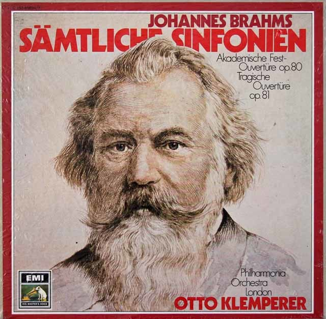 【未開封】 クレンペラーのブラームス/交響曲全集 独EMI 3029 LP レコード