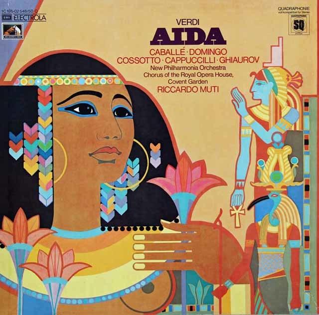 ムーティのヴェルディ/「アイーダ」 独EMI 3029 LP レコード