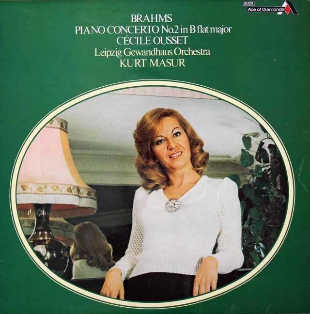ウーセ&マズアのブラームス/ピアノ協奏曲第2番 英Ace of Diamonds(DECCA) 3029 LP レコード