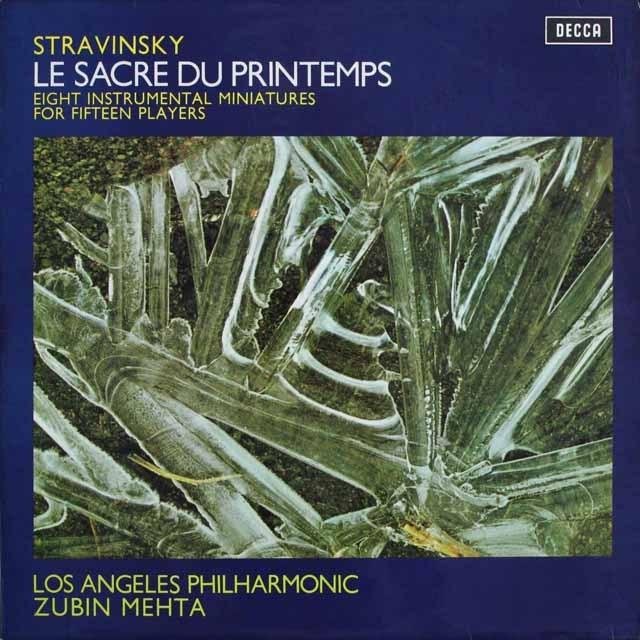 メータのストラヴィンスキー/「春の祭典」  独DECCA 3231 LP レコード