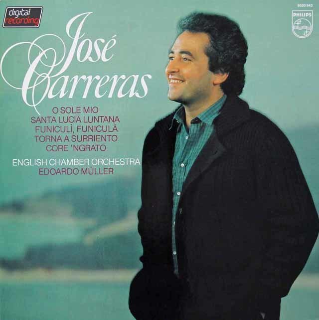 カレーラスの「オー・ソレ・ミオ」 ナポリ歌曲集 蘭PHILIPS 3029 LP レコード