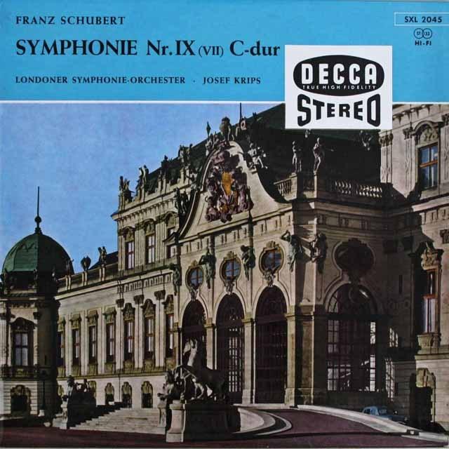 【独最初期盤】クリップスのシューベルト/交響曲第9番「グレート」 独DECCA 3231 LP レコード