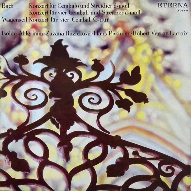 【テストプレス】 ヴェイロン=ラクロワ&ピシュナーらのバッハ/チェンバロ協奏曲第1番ほか 独ETERNA 3291 LP レコード