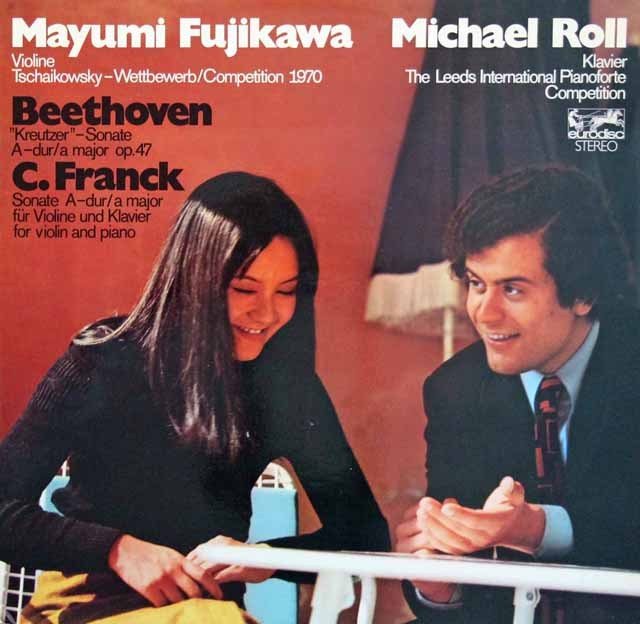 藤川&ロールのベートーヴェンー/ヴァイオリンソナタ第9番ほか 独eurodisc 3294 LP レコード