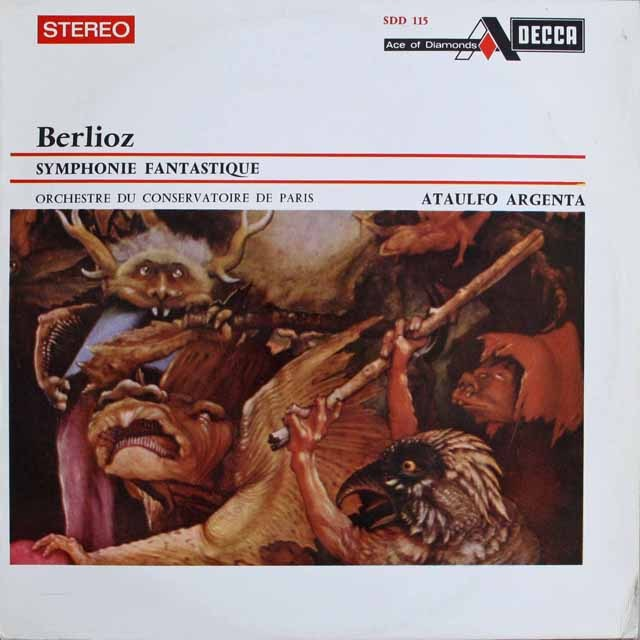 アルヘンタのベルリオーズ/幻想交響曲 仏DECCA  2521