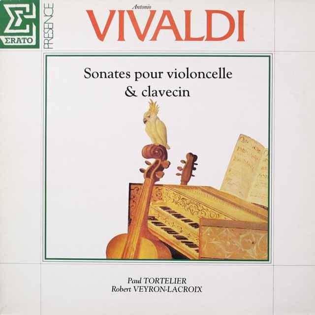 トルトゥリエのヴィヴァルディ/チェロソナタ集 仏ERATO  2644 LP レコード