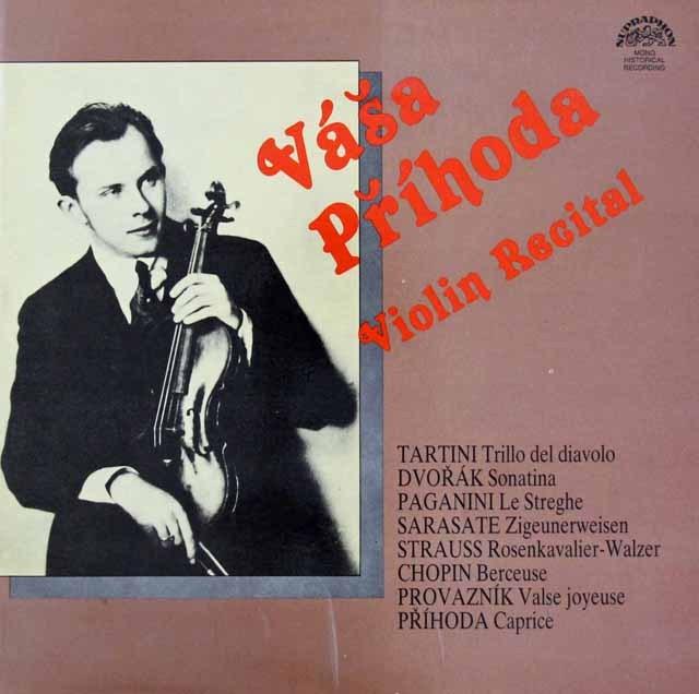 ヴァーシャ・プシホダのヴァイオリン・リサイタル チェコスロヴァキアSUPRAPHON 3294 LP レコード