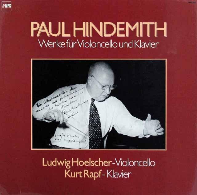 ヘルシャー&ラプフのヒンデミット/チェロソナタ集 独MPS 2845 LP レコード