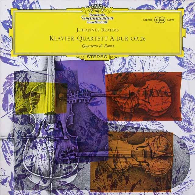 【独最初期盤】 ローマ四重奏団のブラームス/ピアノ四重奏曲第2番 独DGG 3291 LP レコード