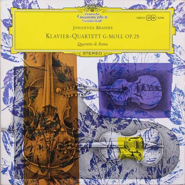 【独最初期盤】 ローマ四重奏団のブラームス/ピアノ四重奏曲第1番 独DGG 3291 LP レコード
