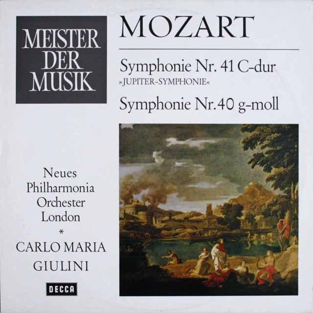 ジュリーニのモーツァルト/交響曲第40&41番「ジュピター」 独DECCA 3231