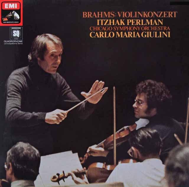パールマン&ジュリーニのブラームス/ヴァイオリン協奏曲 独EMI 3294 LP レコード