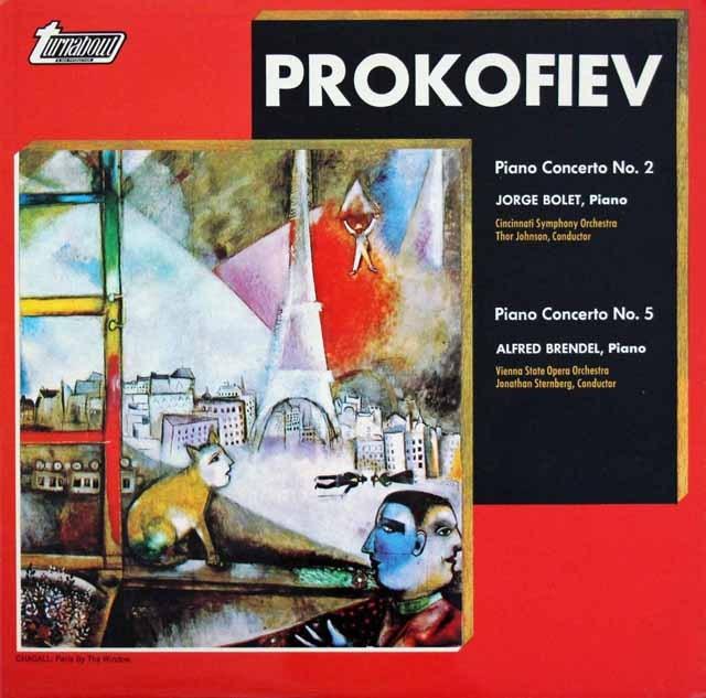 ブレンデル&ボレットのプロコフィエフ/ピアノ協奏曲集 英turnabout 3294 LP レコード
