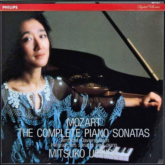 内田のモーツァルト/ピアノソナタ全集 蘭PHILIPS 2845 LP レコード