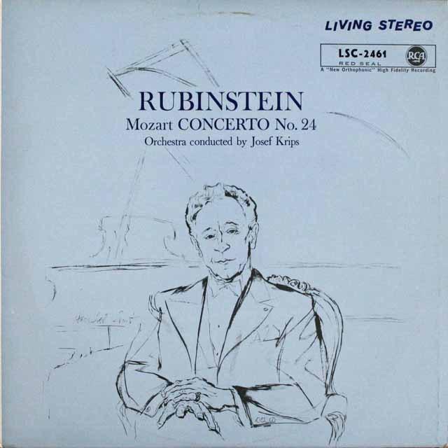 ルービンシュタイン&クリップスのモーツァルト/ピアノ協奏曲第24番  独RCA  3231 LP レコード