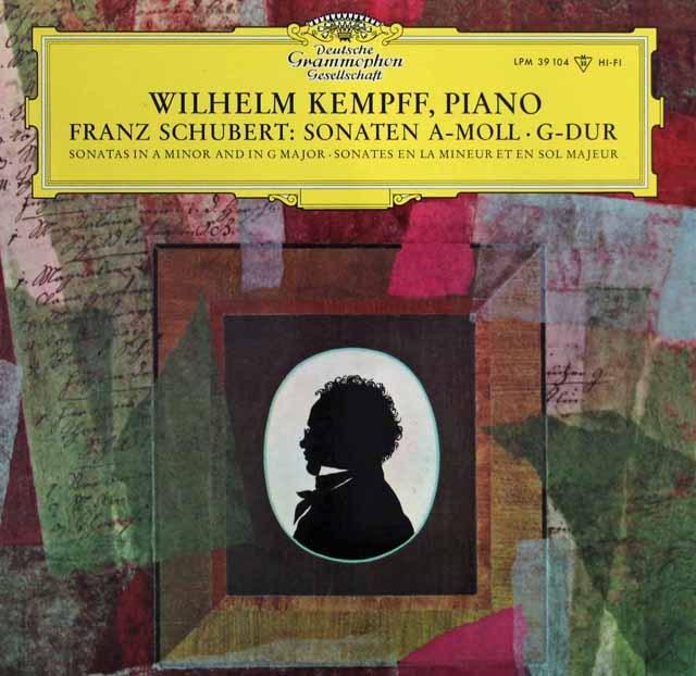 【モノラル】 ケンプのシューベルト/ピアノソナタ第16&18番 「幻想」 独DGG 2995 LP レコード