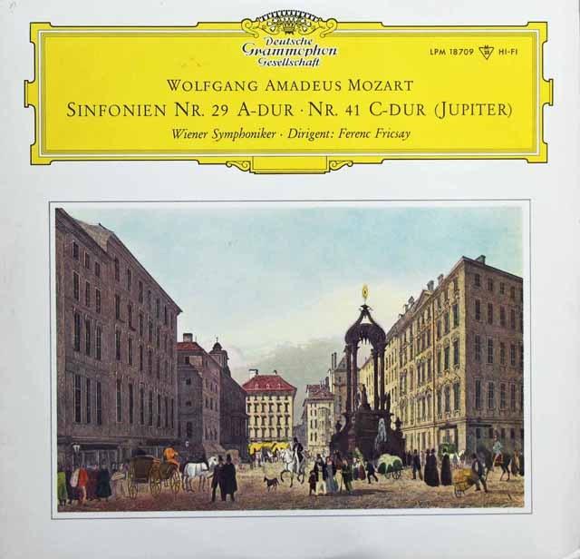 【モノラル】 フリッチャイのモーツァルト/交響曲第29&41番「ジュピター」 独DGG 2995 LP レコード