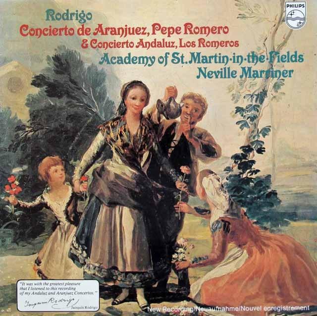 ペペ・ロメロ&マリナーのロドリーゴ/アランフェス協奏曲ほか 蘭PHILIPS 3294 LP レコード