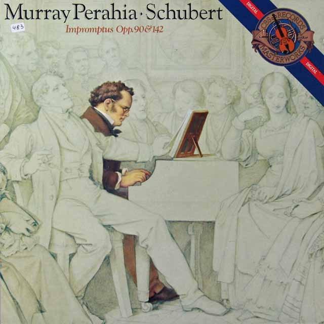 ペライアのシューベルト/4つの即興曲集 独CBS   2710 LP レコード