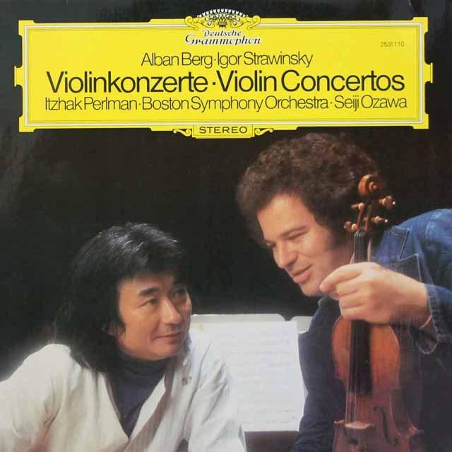 パールマン&小澤のストラヴィンスキー&ベルク/ヴァイオリン協奏曲 独DGG 3294 LP レコード