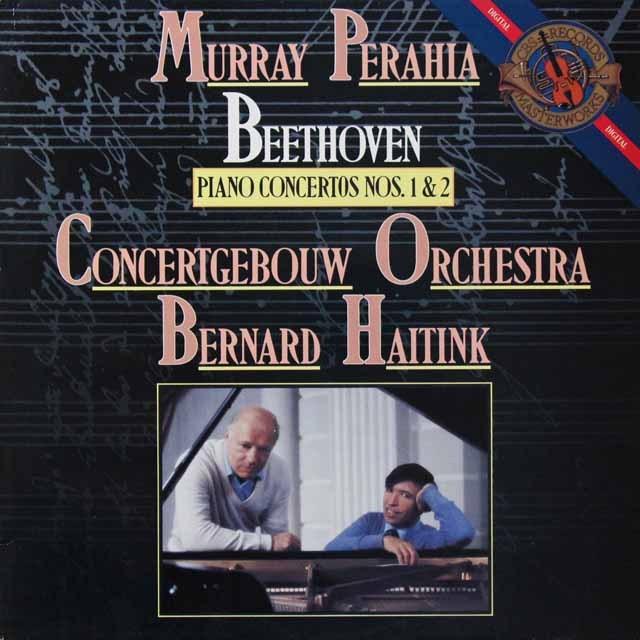 ペライア&ハイティンクのベートーヴェン/ピアノ協奏曲第1&2番 蘭CBS   2710 LP レコード
