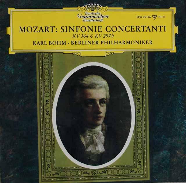 【モノラル】 ベームのモーツァルト/協奏交響曲集 独DGG 2995 LP レコード