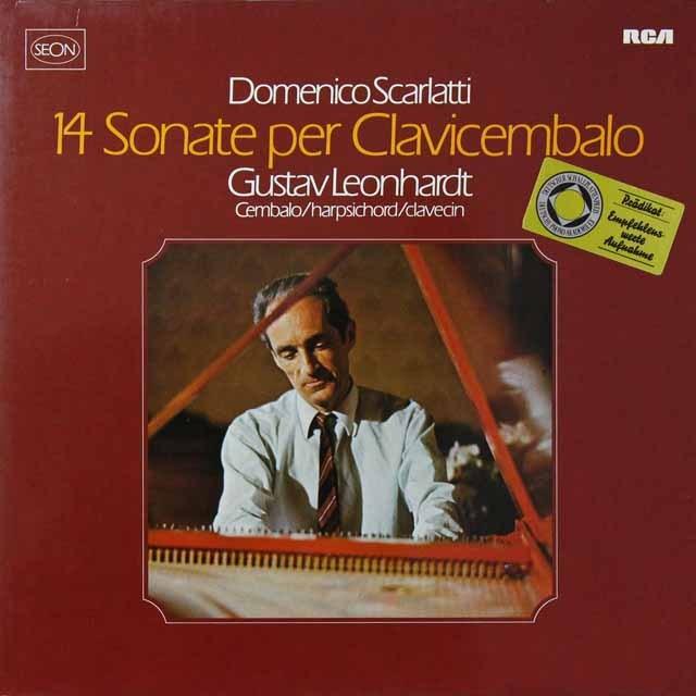 レオンハルトのスカルラッティ/チェンバロソナタ集 独RCA(SEON)   2710 LP レコード