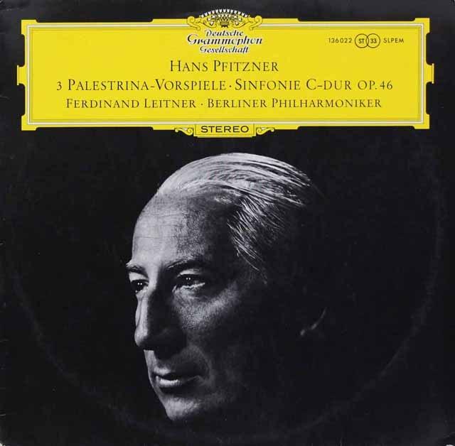 ライトナーのプフィッツナー/「パレストリーナ」から3つの間奏曲ほか 独DGG 3294 LP レコード