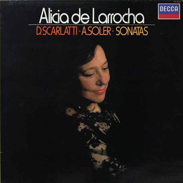 ラローチャのD.スカルラッティ&ソレール/ピアノソナタ集 蘭DECCA 3292 LP レコード