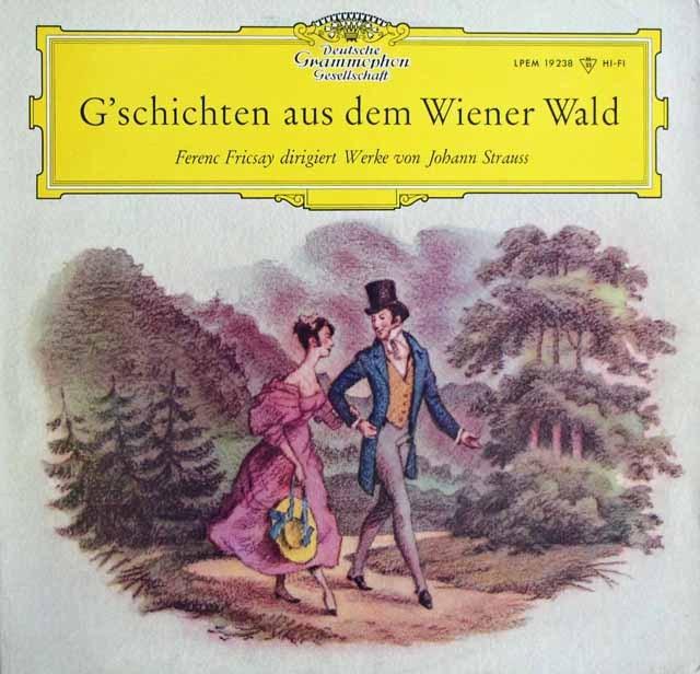 【モノラル/オリジナル盤】 フリッチャイのJ.シュトラウス/ワルツ集 独DGG 2995 LP レコード