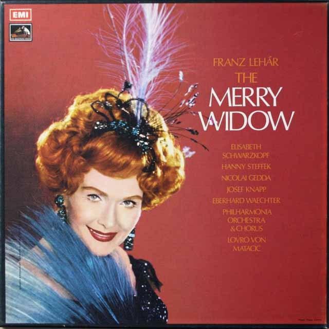 マタチッチ&シュヴァルツコップのレハール/「メリー・ウィドウ」 英EMI 2640 LP レコード