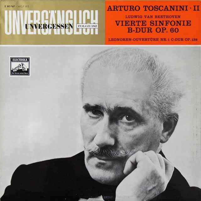 トスカニーニのベートーヴェン/交響曲第4番ほか 独EMI   2710 LP レコード
