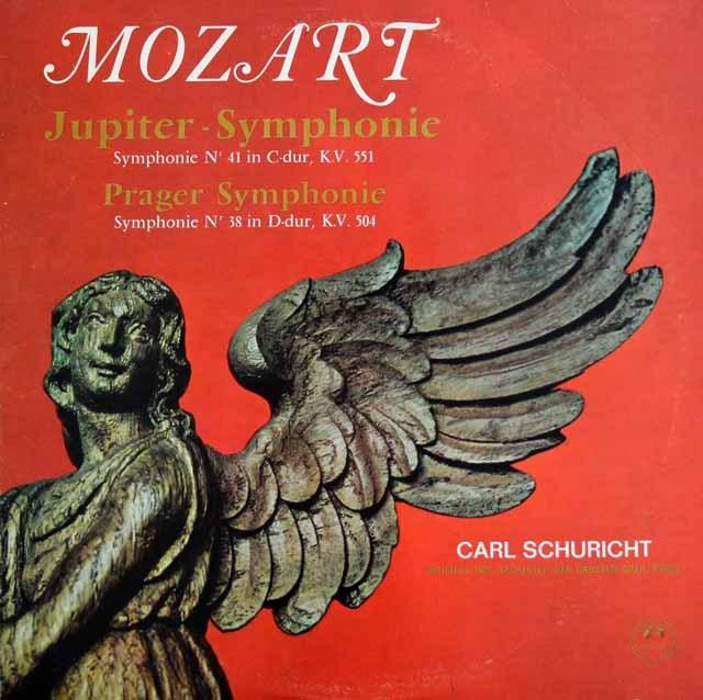 【モノラル】 シューリヒトのモーツァルト/交響曲第41番「ジュピター」&第38番「プラハ」 独Concert Hall 2995 LP レコード