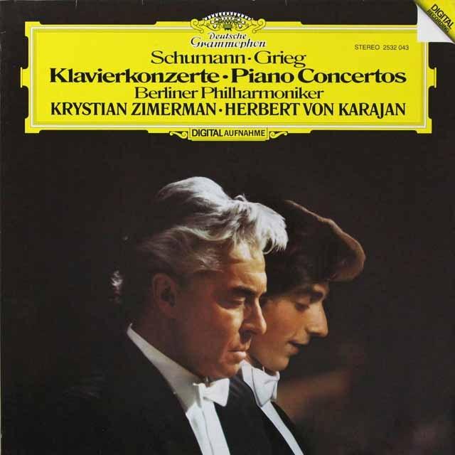 ツィマーマン&カラヤンのシューマン/ピアノ協奏曲ほか 独DGG 3292 LP レコード